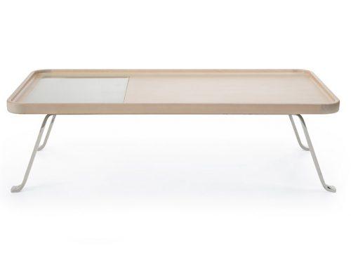 10Table6010 500x360 - שולחן המתנה -october s1 chrom g1 שולחן המתמה עץ משולב עם זכוכית | מס': 6010