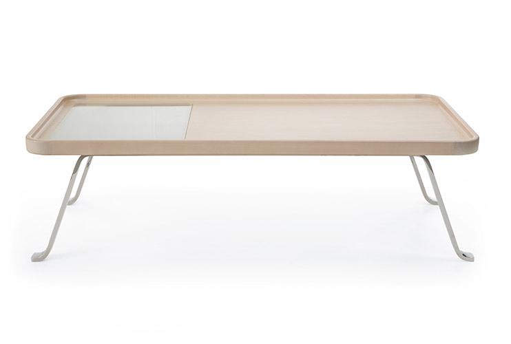 שולחן המתנה -october s1 chrom g1 שולחן המתמה עץ משולב עם זכוכית | מס': 6010