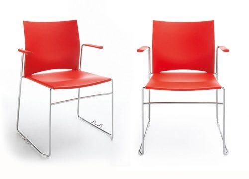 15Kise0615 500x360 - כסא/ כורסת/ ספת המתנה או אורח או קפיטריה ariz 550v פלסטיק עם ידיות | מס': 0615