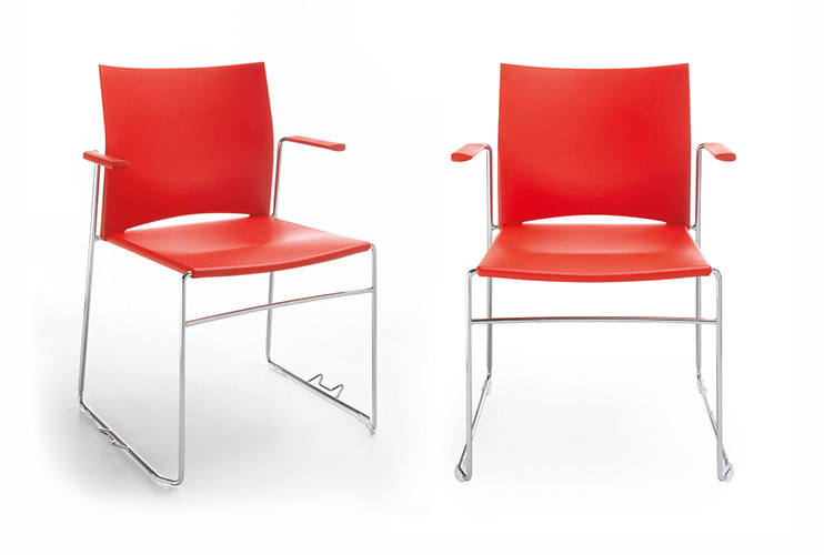כסא/ כורסת/ ספת המתנה או אורח או קפיטריה ariz 550v פלסטיק עם ידיות | מס': 0615