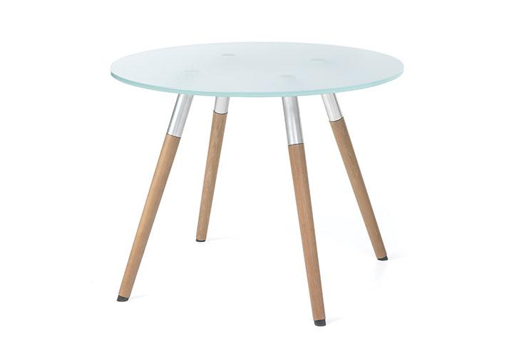 שולחן המתנה- sw40 שולחן זכוכית עם רגלי עץ | מס': 6001