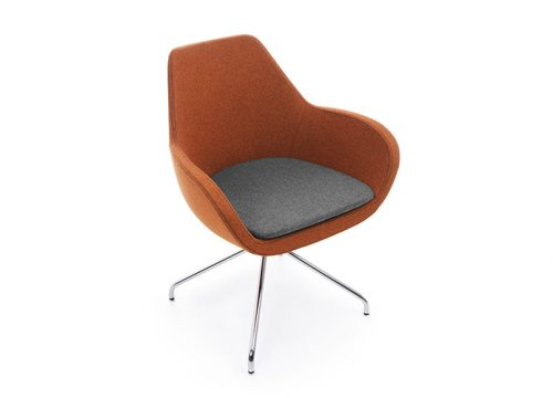 2Kise0502 500x360 - כסא/ כורסת/ ספת המתנה או אורח Fan 10H בבד עם שילוב צבעים | מס': 0502
