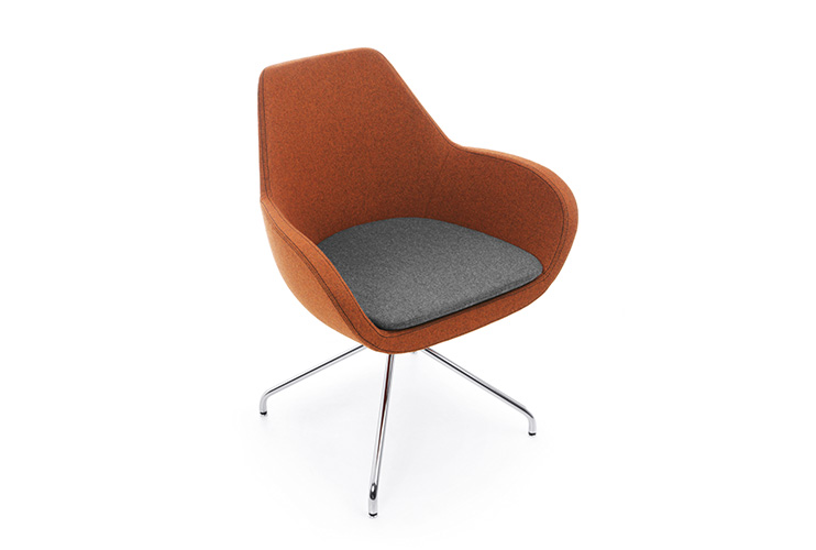 כסא/ כורסת/ ספת המתנה או אורח Fan 10H בבד עם שילוב צבעים | מס': 0502