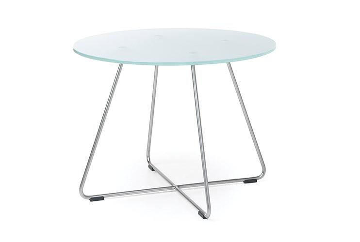 שולחן המתנה- sv40 שולחן זכוכית רגליים מצטלבות | מס': 6002