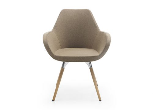 3Kise0503 500x360 - כסא / כורסת/ספת המתנה או אורח Fan 10HW רגלי עץ | מס': 0503