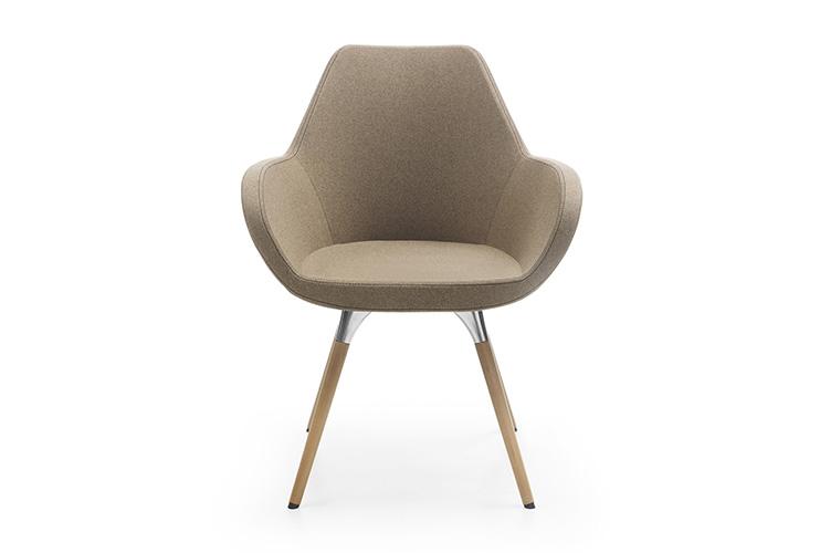 כסא/ כורסת המתנה או אורח Fan 10HW רגלי עץ | מס': 0503