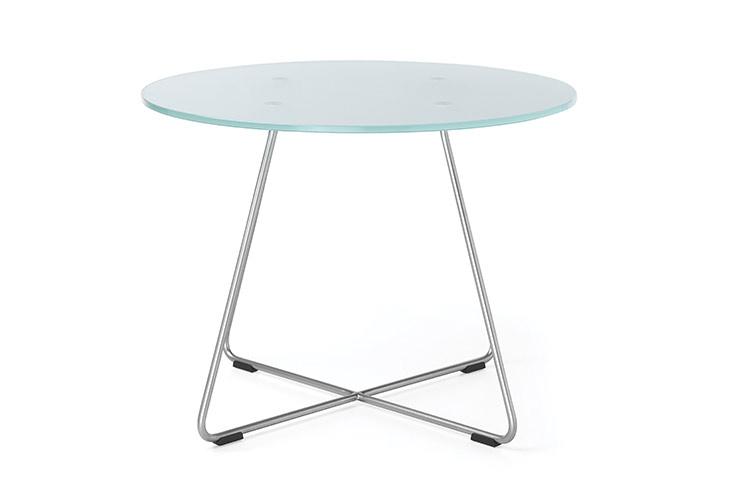 שולחן המתנה- sv40 שולחן זכוכית רגליים מצטלבות | מס': 6003