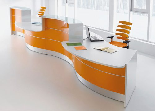 4Dalpak2104 500x360 - דלפק קבלה למשרד- דלפק פורמייקה ארגונומי צבעוני | מס': 2104