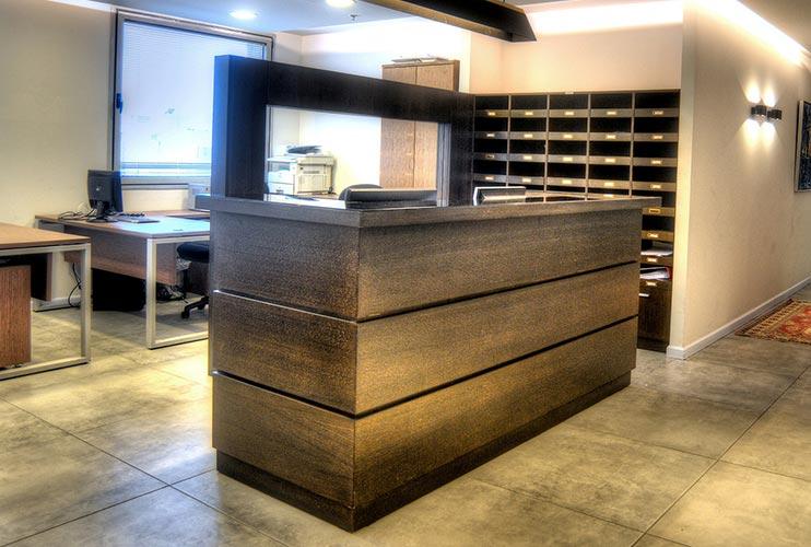 דלפק קבלה למשרד- דלפק בפורניר אלון מגוון וונגה | מס': 2204