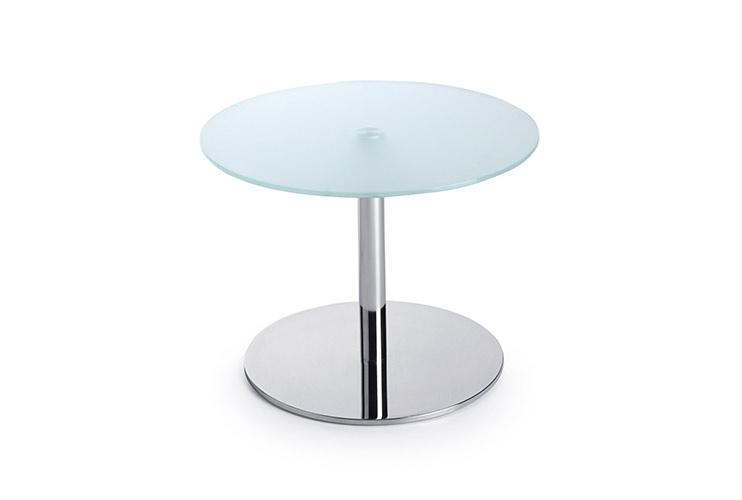 שולחן המתנה -sr40 שולחן זכוכית רגל פיצה | מס': 6004