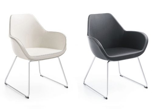 6Kise0506 500x360 - כסא/כורסת/ספת המתנה או אורח -Fan 10V רגל טרפז | מס: 0506