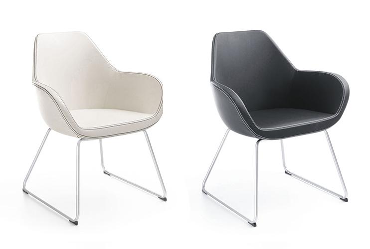 כסא/כורסת/ספת המתנה או אורח -Fan 10V רגל טרפז | מס: 0506