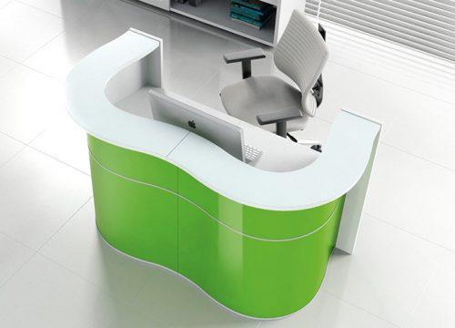 7Dalpak2107 500x360 - דלפק קבלה למשרד- דלפק פורמייקה בצורת גל צבעוני | מס': 2107