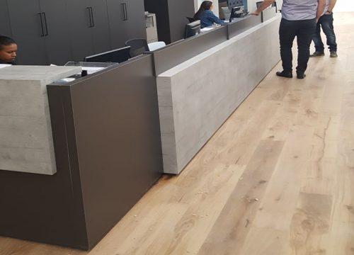 8Dalpak2108 500x360 - דלפק קבלה למשרד- דלפק משולב בפורמייקה ננו משולב בטון | מס': 2108