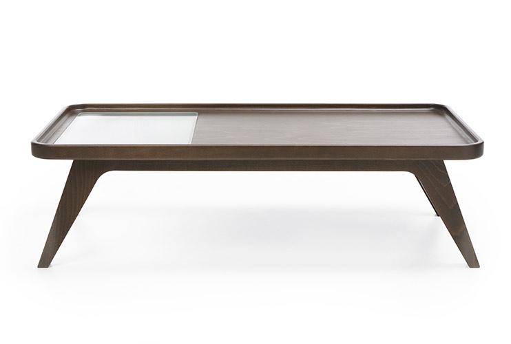 שולחן המתנה -october s1 wood g1 שולחן המתנה משולב עץ עם זכוכית | מס': 6009