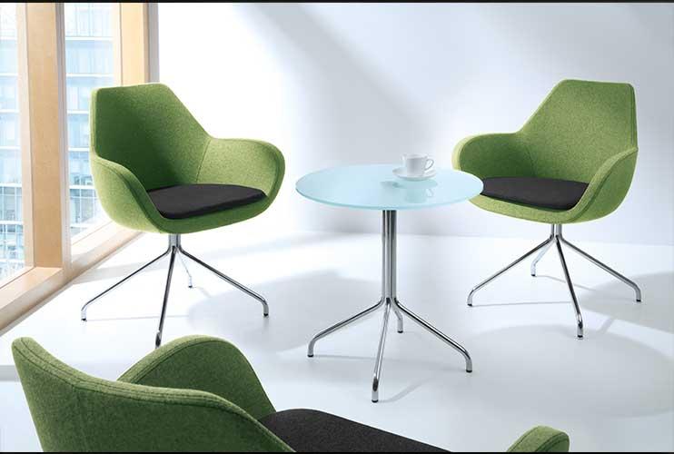 כיסא המתנה- FAN פינת המתנה משולב שני צבעים ושולחן המתנה ברגליים תואמות