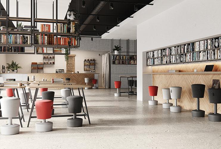 כסא ארגונומי- עמדות עבודה וקפיטריה עם מושבים ארגונומיים