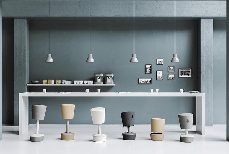 כיסא ארגונומי- פינת קפה עם מושבים ארגונומיים