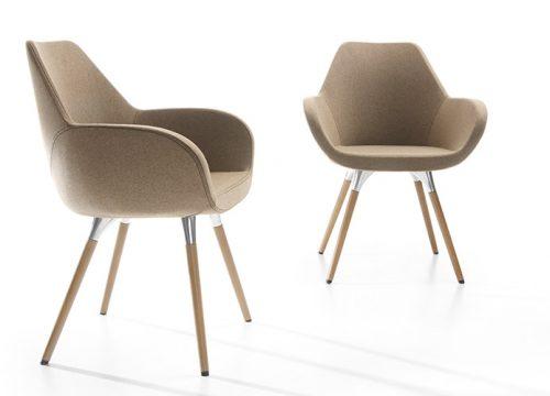 Hal8 500x360 - כסא / כורסת המתנה / אורח FAN רגלי עץ