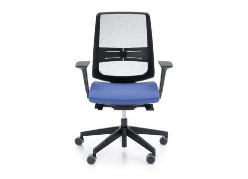 02Kise0102 500x360 - כסא משרדי- כסא עובד lightUP גב רשת | מס': 0102