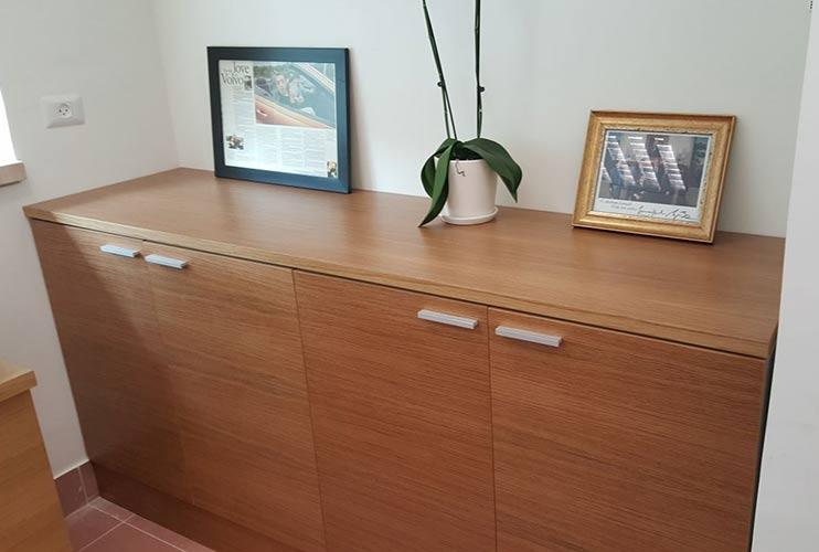 ארון איחסון למשרד- ארונית בפורניר | מס': 1310