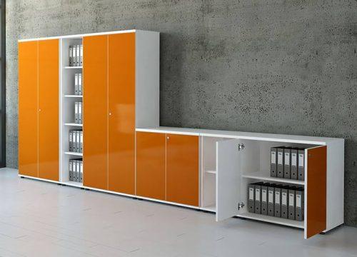 10Formaika1010 500x360 - ארון איחסון למשרד- ארון גבוה צמוד עם ארון נמוך בפורמייקה | מס': 1010