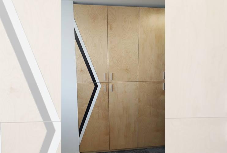 ארון איחסון למשרד – ארון פורניר בנגרות אומן | מס': 1312