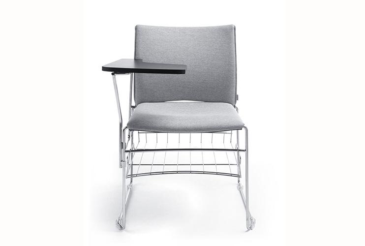 כסא השתלמויות- ariz עם משענת כתיבה וסלסלה – כסא לכנסים והשתלמויות   מס': 0617