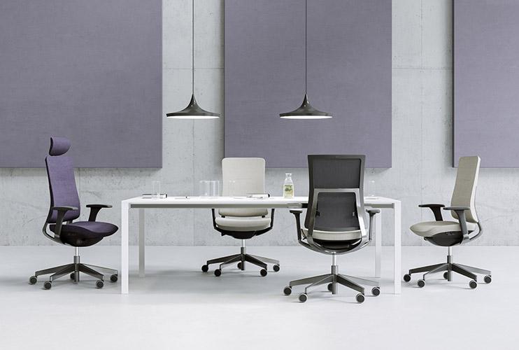 כסא עובד Violle קולקציה בגווני אפור | מס': 0113