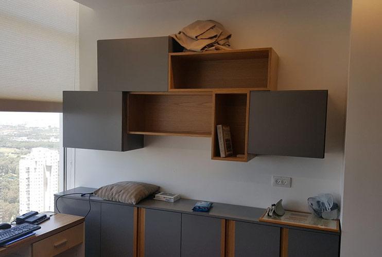 ארון משרדי- כונניות בפורניר ואפוקסי בנגרות אומן | מס': 1113