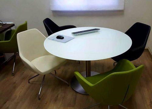 17BigTable3217 500x360 - שולחן לחדר ישיבות עגול בזכוכית | מס': 3217