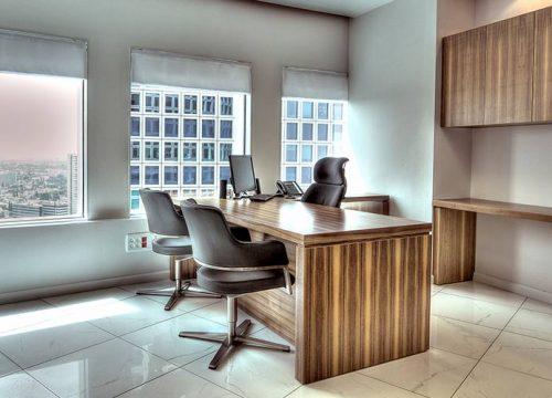 1Afuksi1301 500x360 - שולחן מנהל וארון איחסון למשרד- דגם רוכב בפורניר כולל איחסון תואם | מס': 1301