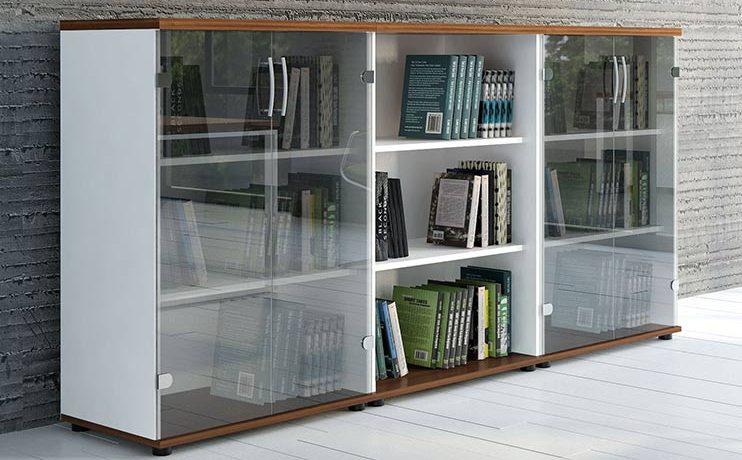 ארון משרדי- ארונות בשילוב זכוכית