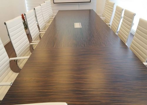 20BigTable3220 500x360 - שולחן לחדר ישיבות בפורניר אייבוני | מס': 3220