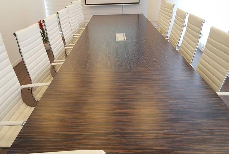 שולחן לחדר ישיבות בפורניר אייבוני   מס': 3220