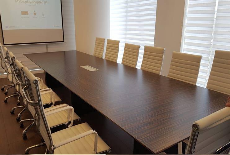 שולחן לחדר ישיבות בפורניר אייבוני   מס': 3221