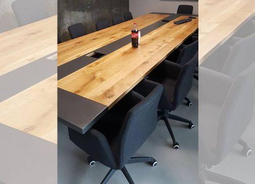 25BigTable3225 500x360 - שולחן לחדר ישיבות בשילוב פורניר ואפוקסי | מס': 3225