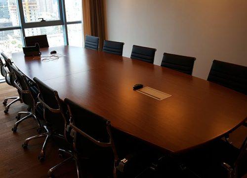 28BigTable3228 500x360 - שולחן לחדר ישיבות בסיומת קשתית | מס': 3228