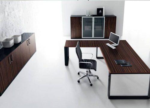 2Afuksi1302 500x360 - שולחן מנהל וארון איחסון למשרד - STAR דגם פורניר כולל אחסון תואם | מס': 1302