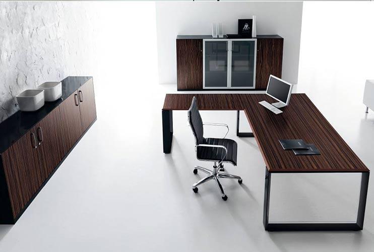 שולחן מנהל וארון איחסון למשרד – STAR דגם פורניר כולל אחסון תואם | מס': 1302