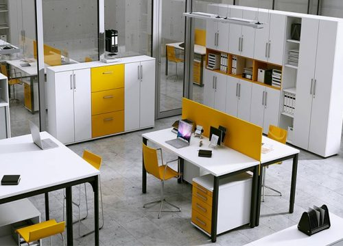 2Formaika1002 500x360 - ארון איחסון למשרד- מערך איחסון משולב פורמייקה צבעונית | מס': 1002