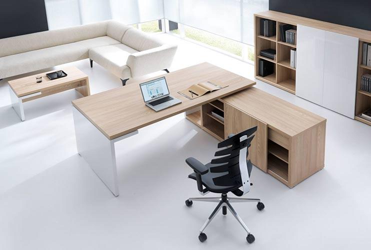 שולחן משרדי MITO בהיר משולב אפוקסי לבן | מס': 3002