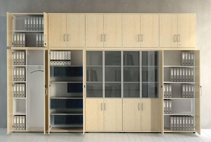 ארון איחסון למשרד- ארון גבוה לקלסרים ותיקיות | מס': 1003