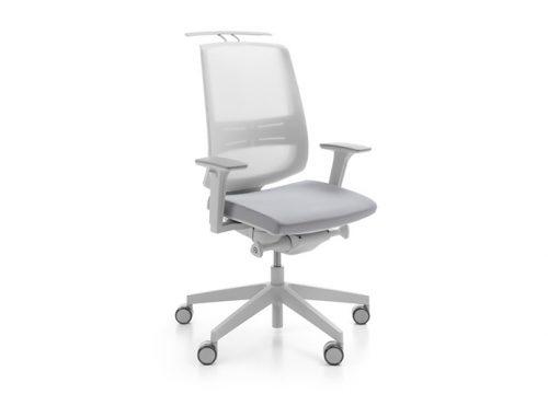 3Kise0103 500x360 - כסא משרדי- כסא עובד lightup light grey אופציה למתלה מעיל | מס': 0103