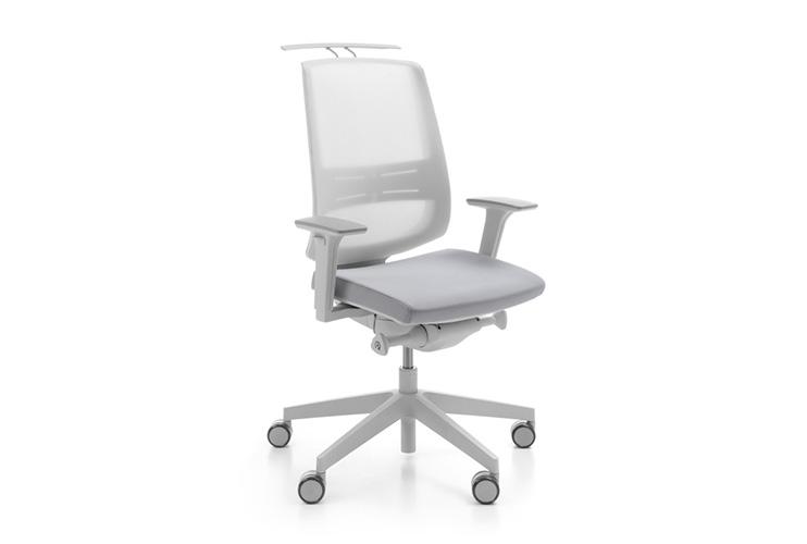 כסא משרדי- כסא עובד lightup light grey אופציה למתלה מעיל | מס': 0103