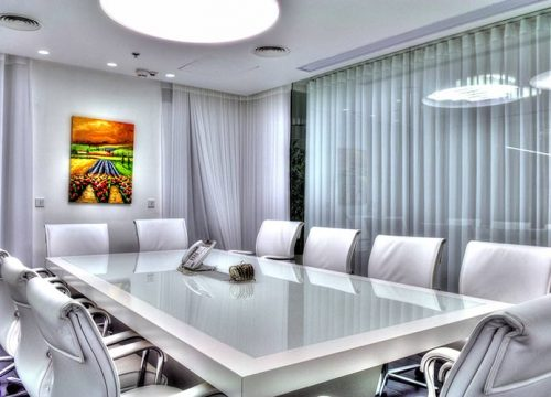 4BigTable3204 500x360 - שולחן לחדר ישיבות משולב זכוכית ואפוקסי | מס': 3204