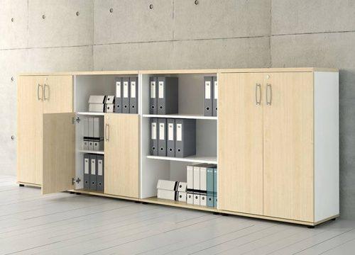 4Formaika1004 500x360 - ארון איחסון למשרד- ארון לפי מידה משולב פתוח וסגור | מס': 1004