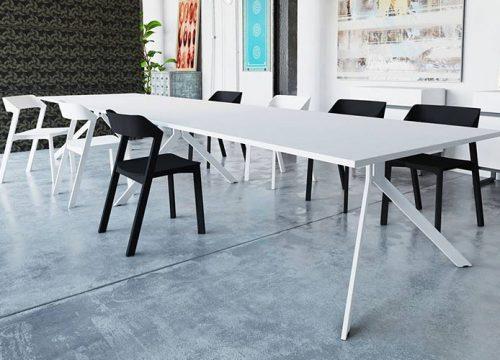 5BigTable3205 500x360 - שולחן לחדר ישיבות בפורמייקה לבנה | מס': 3205