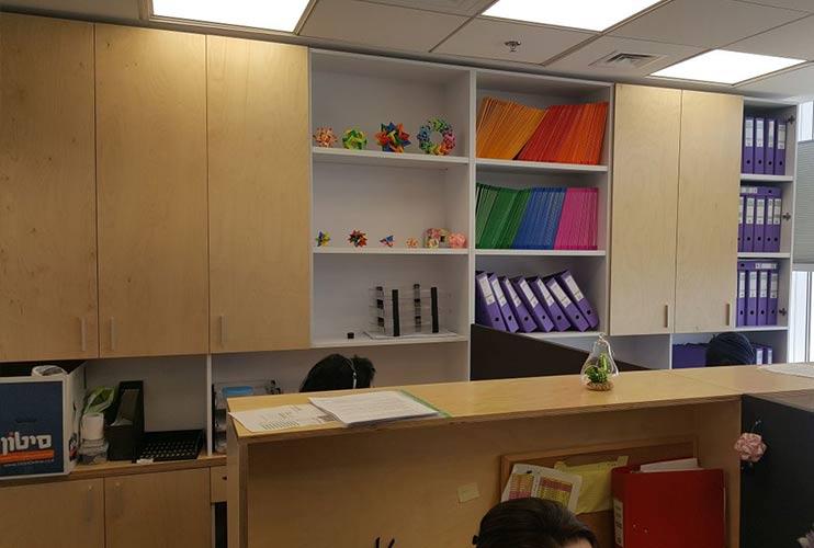 ארון איחסון למשרד- ארון איחסון בפורניר | מס': 1306
