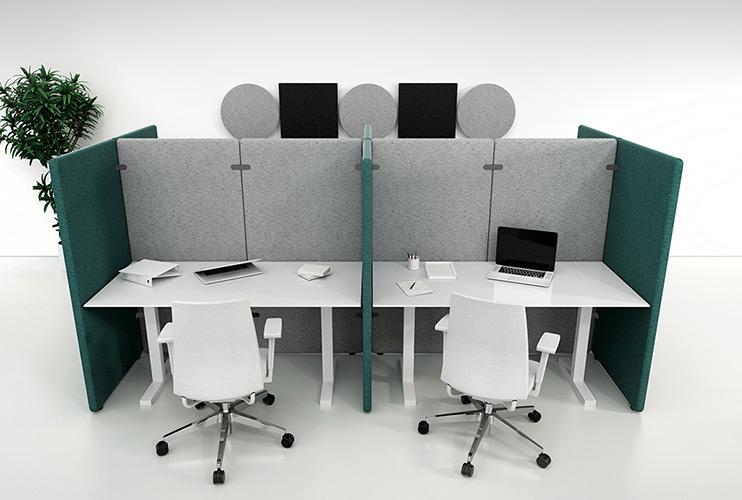 מחיצות אקוסטיות- עמדות עבודה מחולקות בפרגודים אקוסטיים | מס': 4206